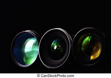 Photography Lenses - Close up shots of lenses for...