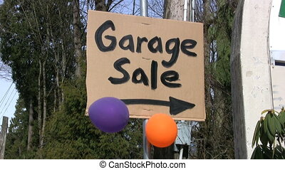 Garage Sale Sign 2 With Balloons - A home-made Garage Sale...