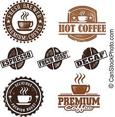 Vintage Style Coffee Stamps - A great selection of coffee...