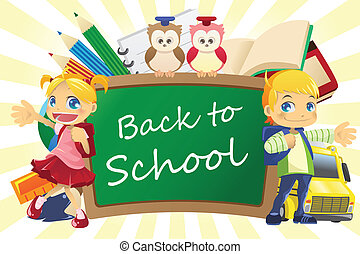 Back to school background - A vector illustration of a back...