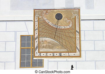 Sundial - The sundial a means of telling the time from the...
