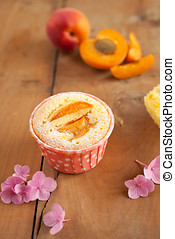 Apricot cupcakes - Deliciously baked apricot cupcakes with...