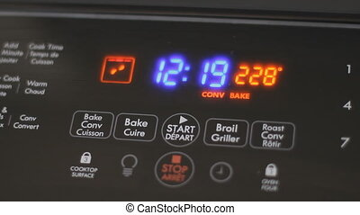 Oven Controls - The Control Panel Of A Modern Convection...