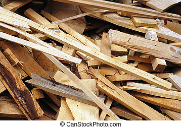 wood waste - wasted wood material for recycling