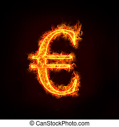Euro sign in flames, check my profile for fire series