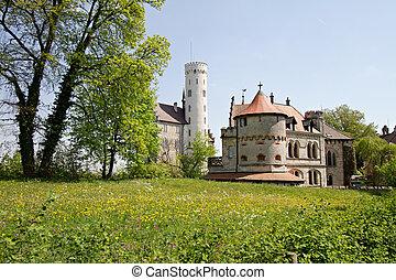 old castle in Lichtenstein in germany, europe