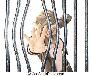 woman in prison selective focus image