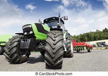 agricultura, tractor, arado