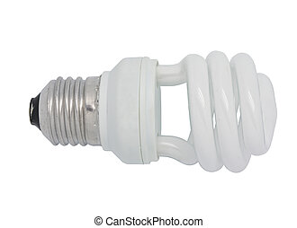 Energy saving lamp - close up the energy saving lamp on a...