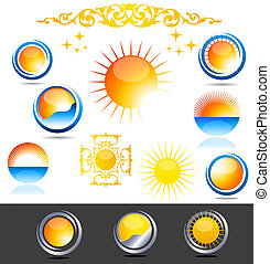 Sun icons - Beautiful sun collection