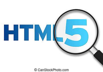 HTMl5, Vergrößern, glas