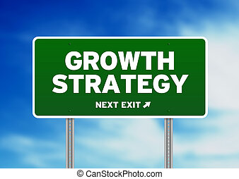 Growth Strategy Road Sign - Green Growth Strategy highway...