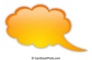 Blank speech bubble - Blank orange speech bubble