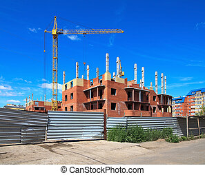 Construction of a residential home. Omsk.