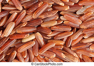 brown rice background closeup