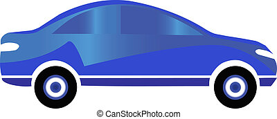 Blue car sport logo design