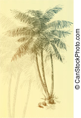 Palm tree - Vector art-illustration that represents the...