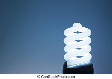 Compact fluorescent light bulb - An energy saving compact...