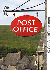 Post office - Sign outside post office of old English...