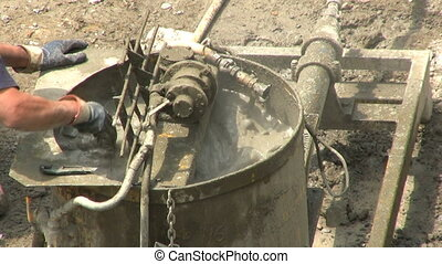 Industrial Cement Mixer - An industrial cement mixer...