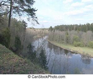 Wonderful panoramic view of river