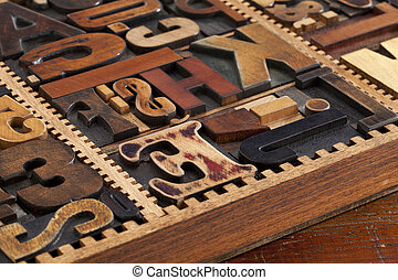 antique letterpress prinitng blocks - a variety of antique...