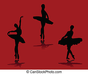 Ballerinas with background