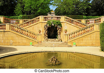 Parc del Laberint d'Horta in Barcelona, Spain - Detail of...