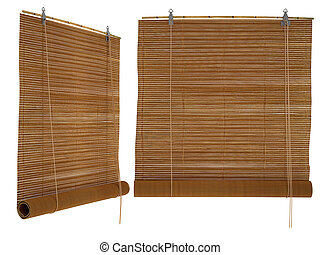 bamboo blinds, isolated on a white background