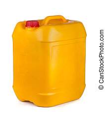 Plastic container - Yellow plastic container with lid and...
