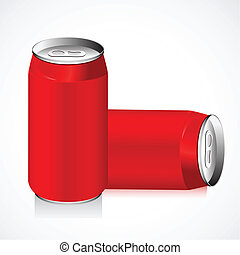 Drink Can - illustration of empty drink can on abstract...