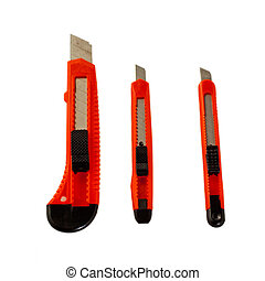 Blades - Three cutters isolated over a white background