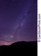 Time Lapse Image of the Night Stars - Long Exposure Time...