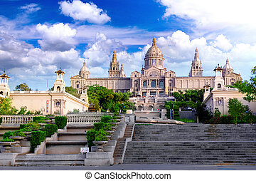 Placa De Espanya, Barcelona - Placa De Espanya, the National...