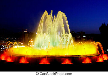 Fountain in Barcelona.Spain. - The famous Montjuic Fountain...