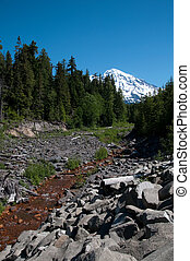 River to Rainier - River at Base of Mt Rainier
