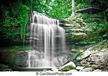 Smokey Falls in Hamilton ON Canada - Waterfall in the...
