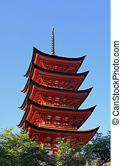 Miyajima Pagoda - Historic 5-story Pagoda on the island of...