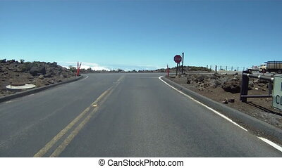 Driving Down Haleakala Volcano - Driving down Haleakala...