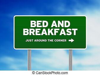 Bed & Breakfast Road Sign - Bed and Breakfast Road Sign on...
