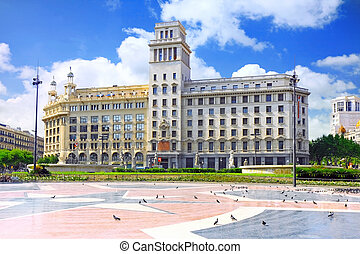 Placa de Catalynia. Barcelona. - Placa de Catalynia. (Square...