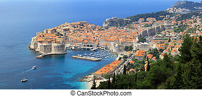 Aerial Dubrovnik - Aerial photo of Dubrovnik UNESCO World...