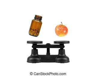 cocina, balance, escalas