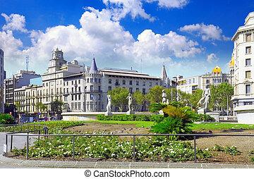 Placa de Catalynia.,Barcelona. - Placa de Catalynia. (Square...