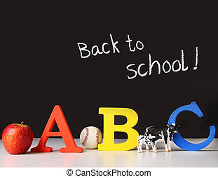 Back to school concept with abc letters