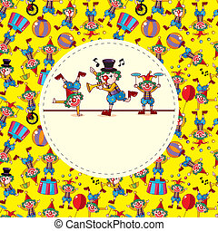 cute cartoon clown card