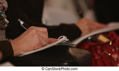 Important information - Person records the information on...