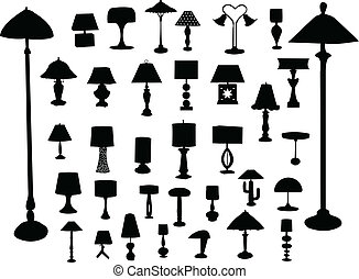 Big collection of lamps