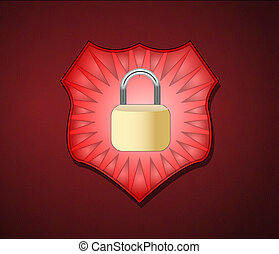 Shield with lock for security