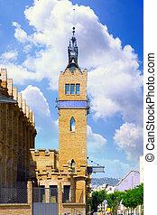 Placa de Espanya , Barcelona . Spain. - Tower on Placa de...